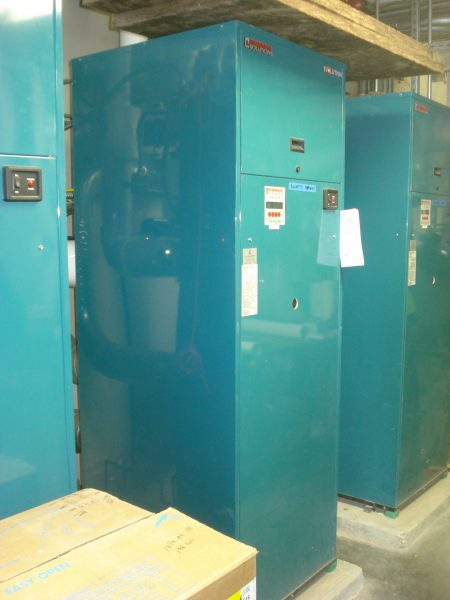 tall blue commercial boilers